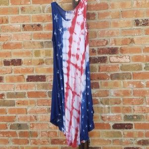 RED, WHITE, AND BLUE SUMMER DRESS/COVERUP